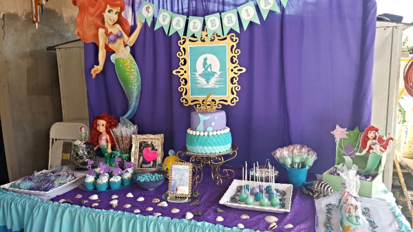 Little Mermaid Sweets Table